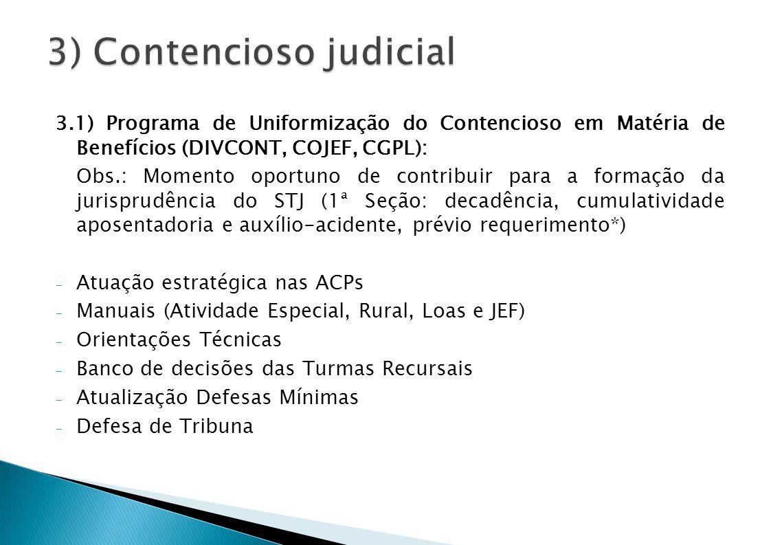 3) Contencioso judicial