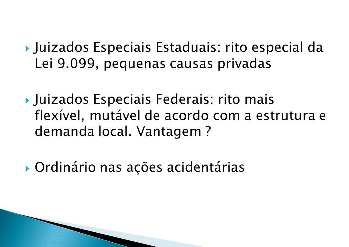 Juizados Especiais Estaduais: rito especial da Lei 9