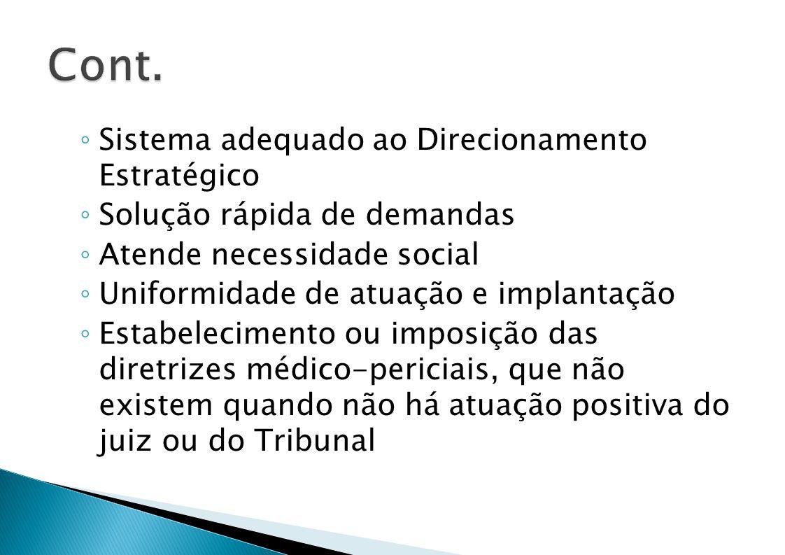 Cont. Sistema adequado ao Direcionamento Estratégico