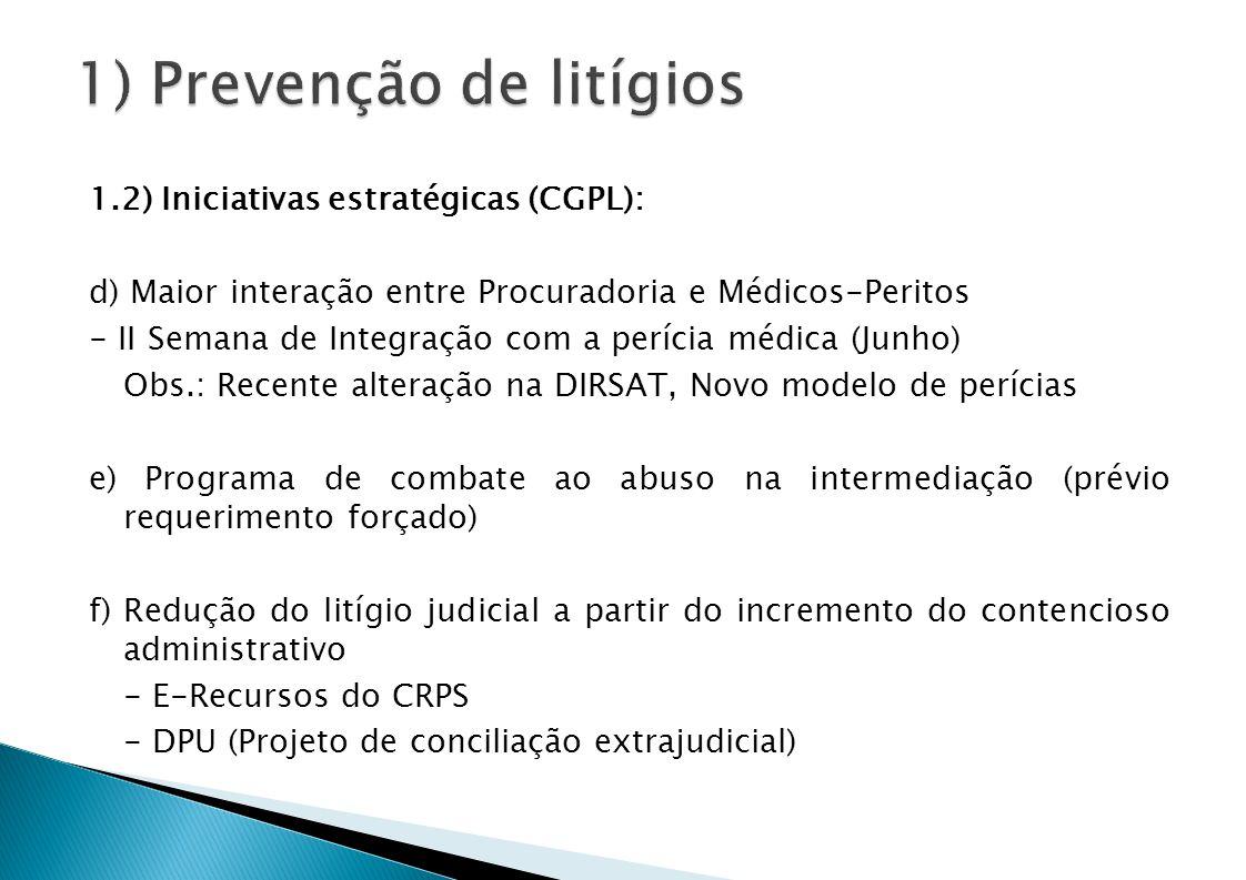 1) Prevenção de litígios