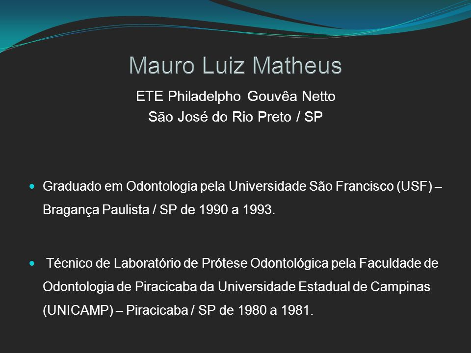 Mauro Luiz Matheus ETE Philadelpho Gouvêa Netto