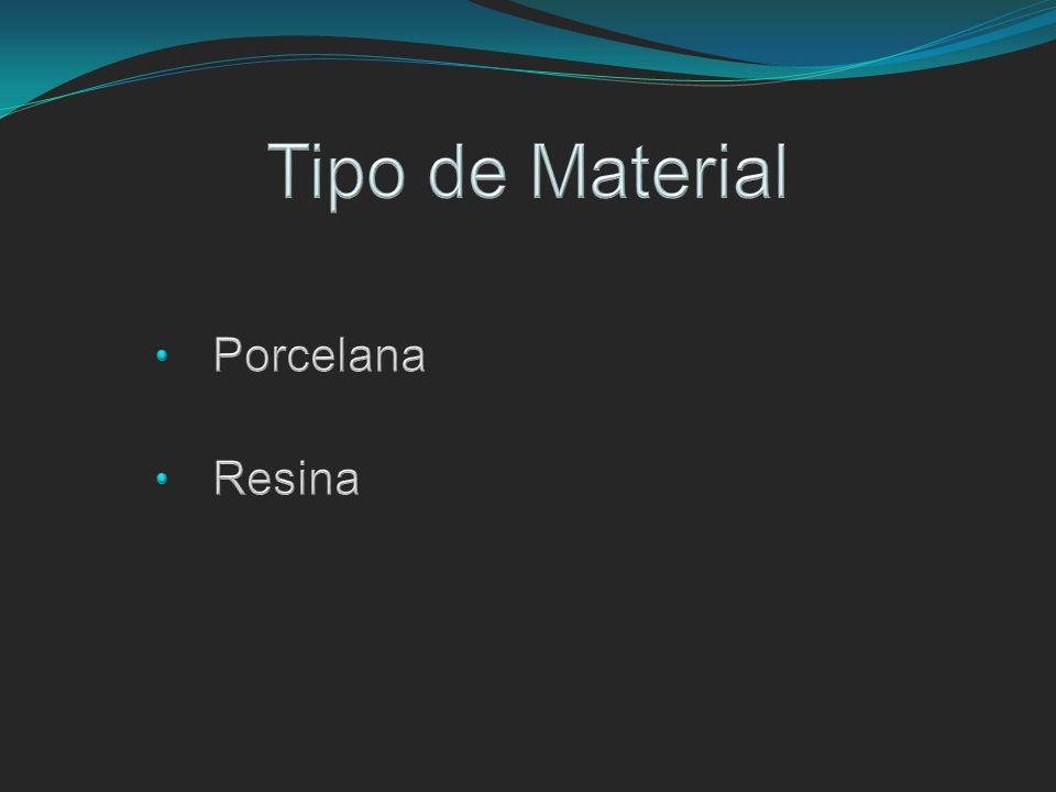 Tipo de Material Porcelana Resina