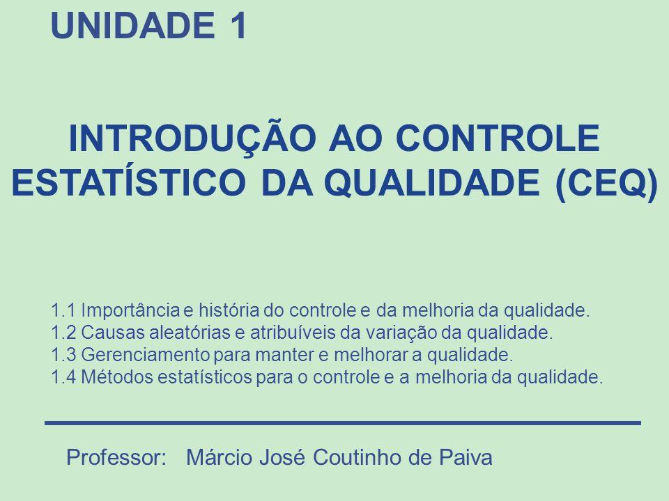 INTRODUÇÃO AO CONTROLE ESTATÍSTICO DA QUALIDADE (CEQ)