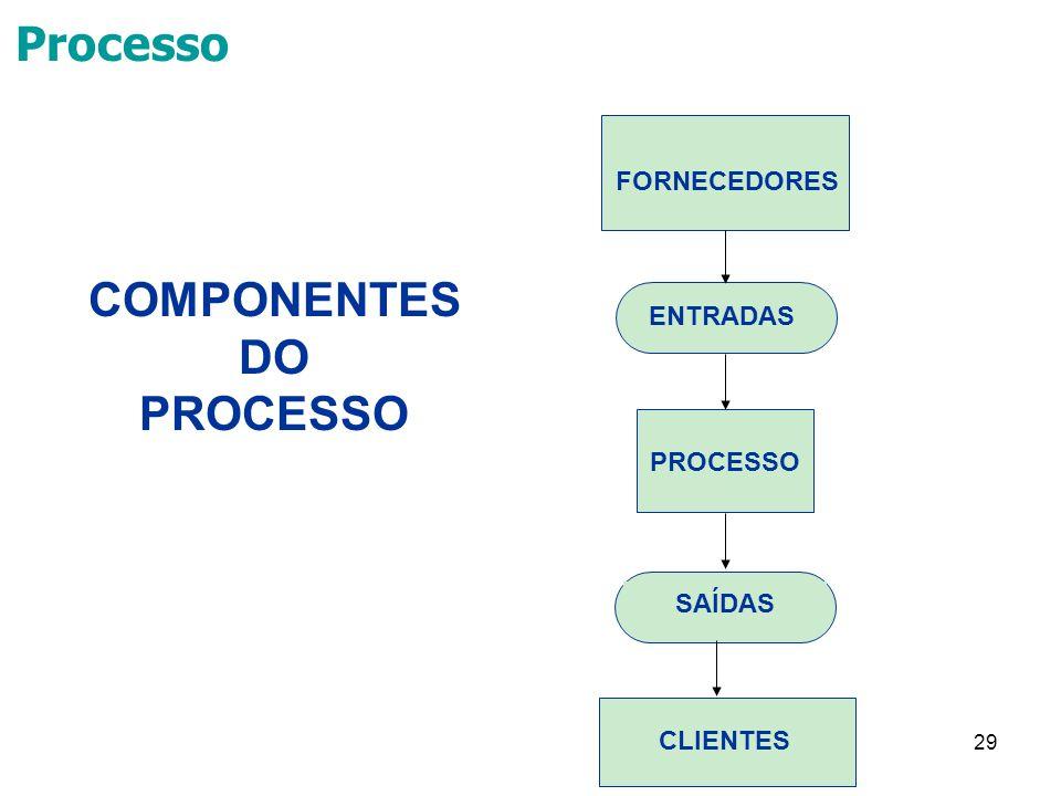 COMPONENTES DO PROCESSO