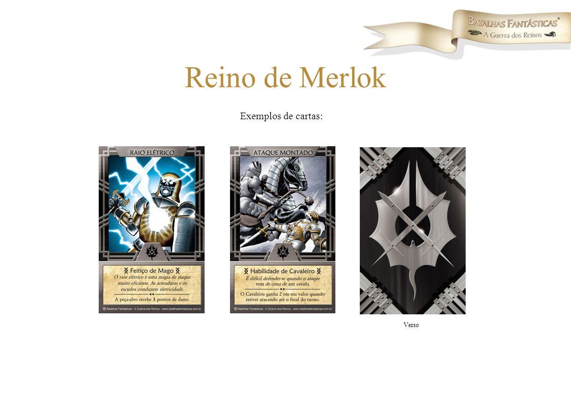 Reino de Merlok Exemplos de cartas: Verso
