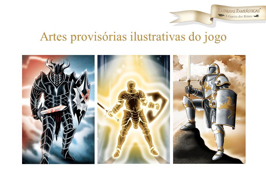 Artes provisórias ilustrativas do jogo