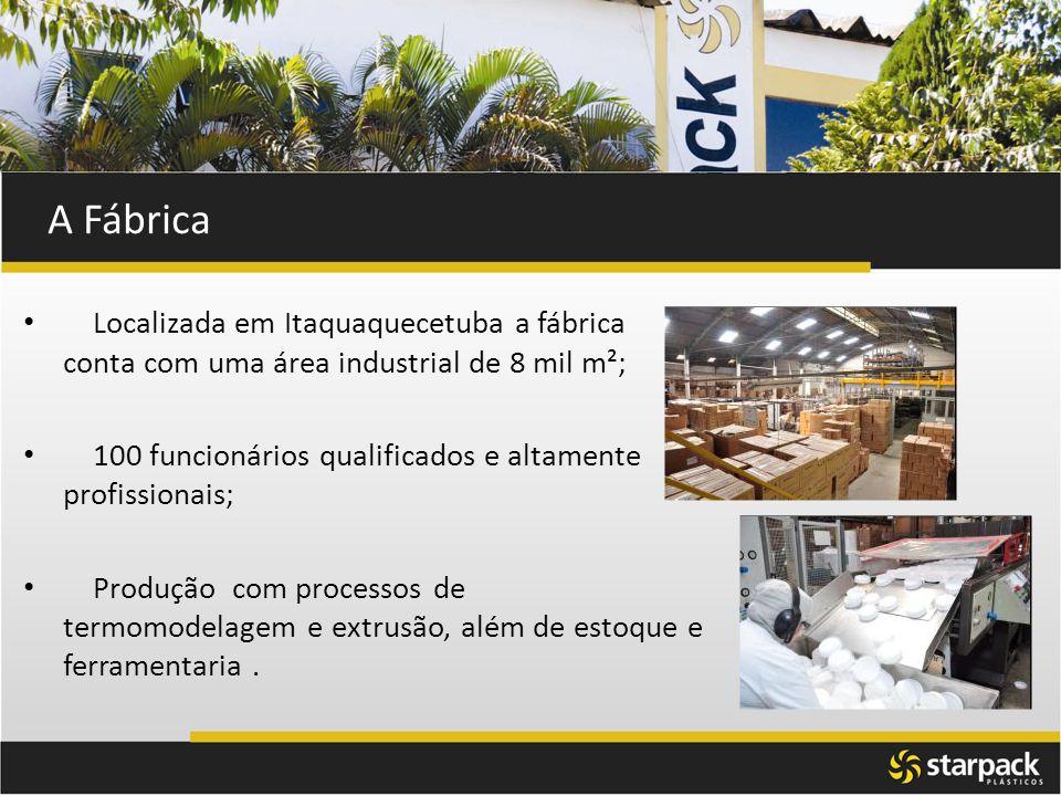 A Fábrica Localizada em Itaquaquecetuba a fábrica conta com uma área industrial de 8 mil m²;