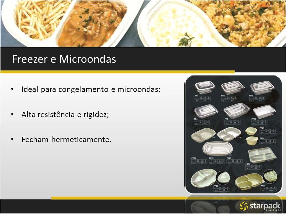 Freezer e Microondas Ideal para congelamento e microondas;