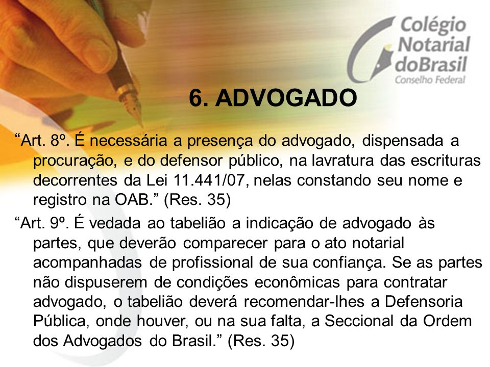 6. ADVOGADO