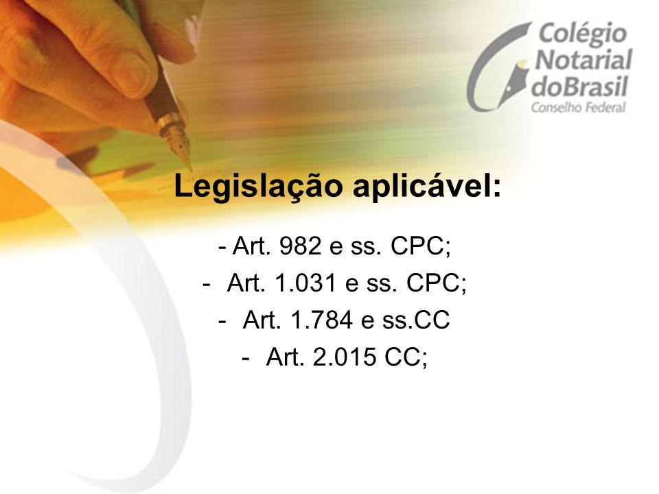 Legislação aplicável: