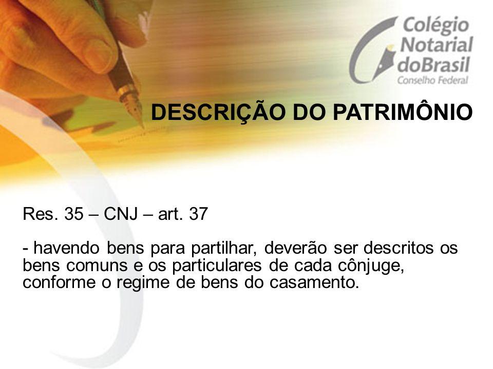 DESCRIÇÃO DO PATRIMÔNIO