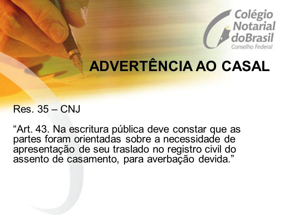 ADVERTÊNCIA AO CASAL