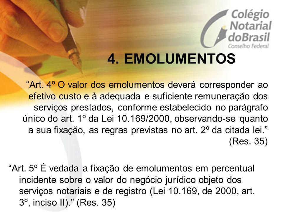 4. EMOLUMENTOS