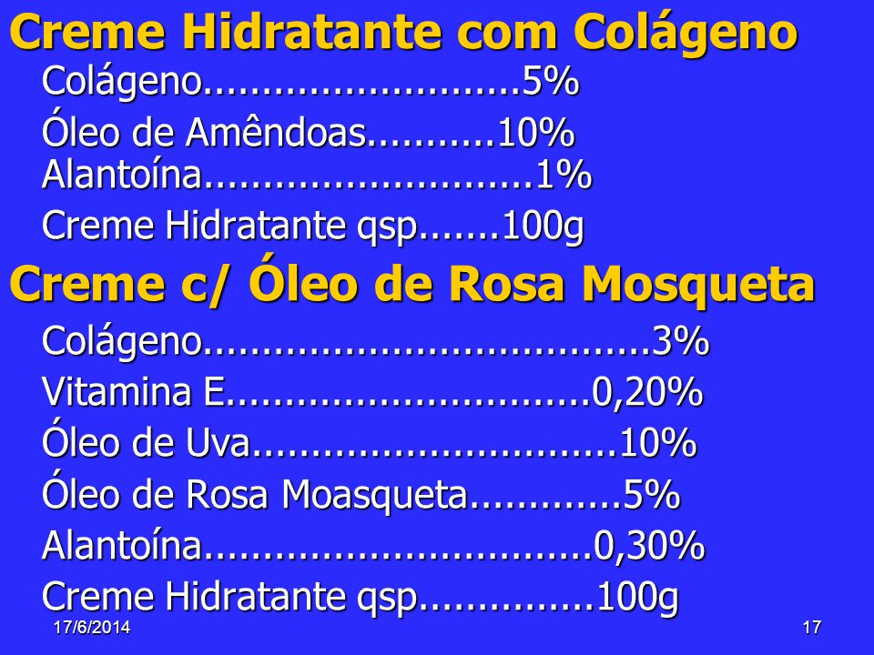 Creme Hidratante com Colágeno