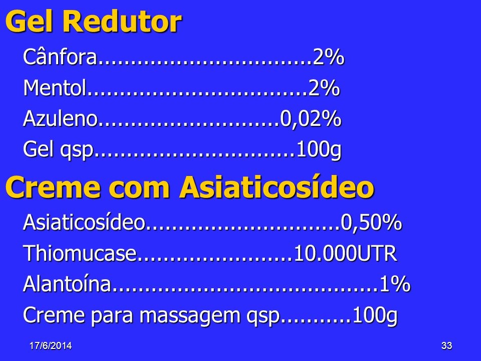 Creme com Asiaticosídeo