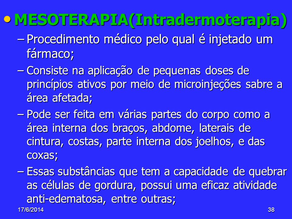 MESOTERAPIA(Intradermoterapia)