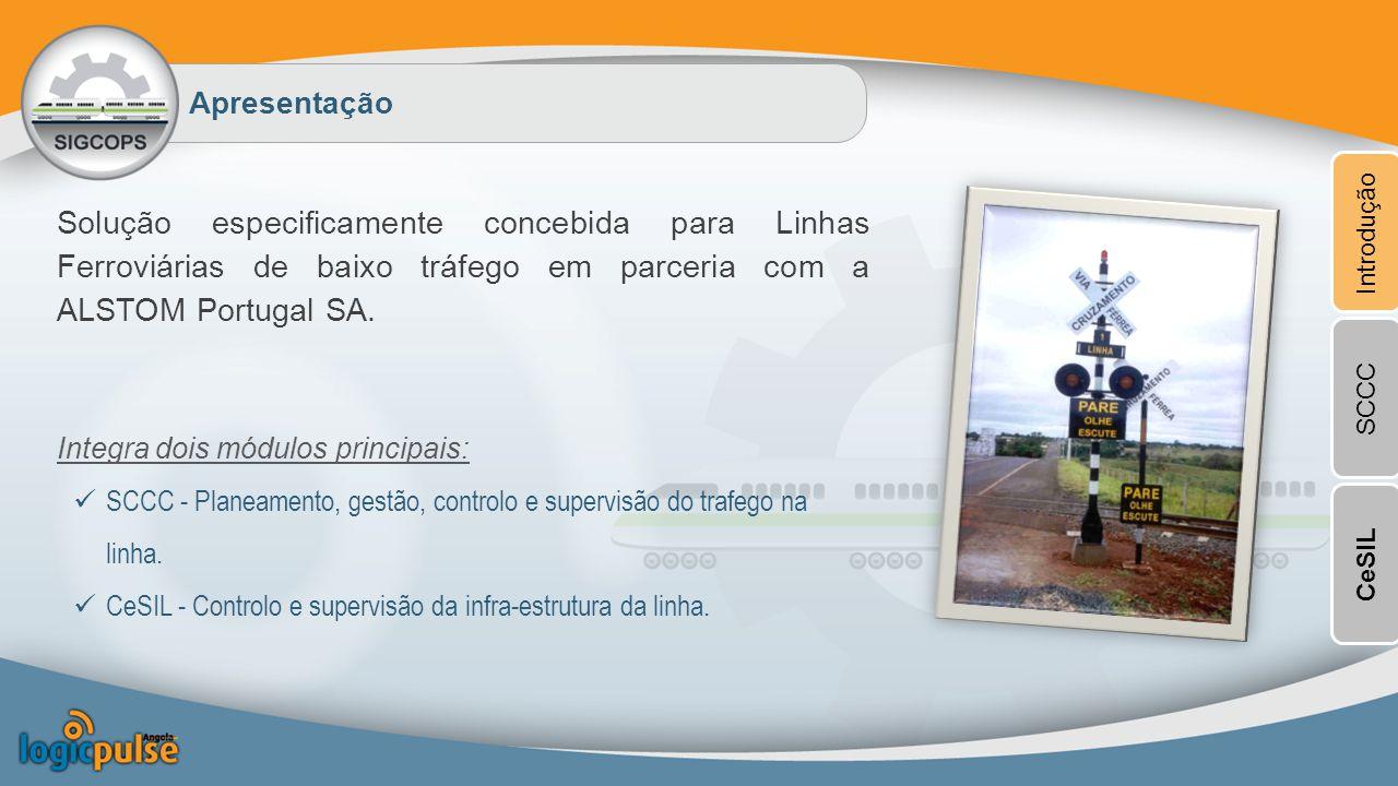 Apresentação Introdução. Solução especificamente concebida para Linhas Ferroviárias de baixo tráfego em parceria com a ALSTOM Portugal SA.