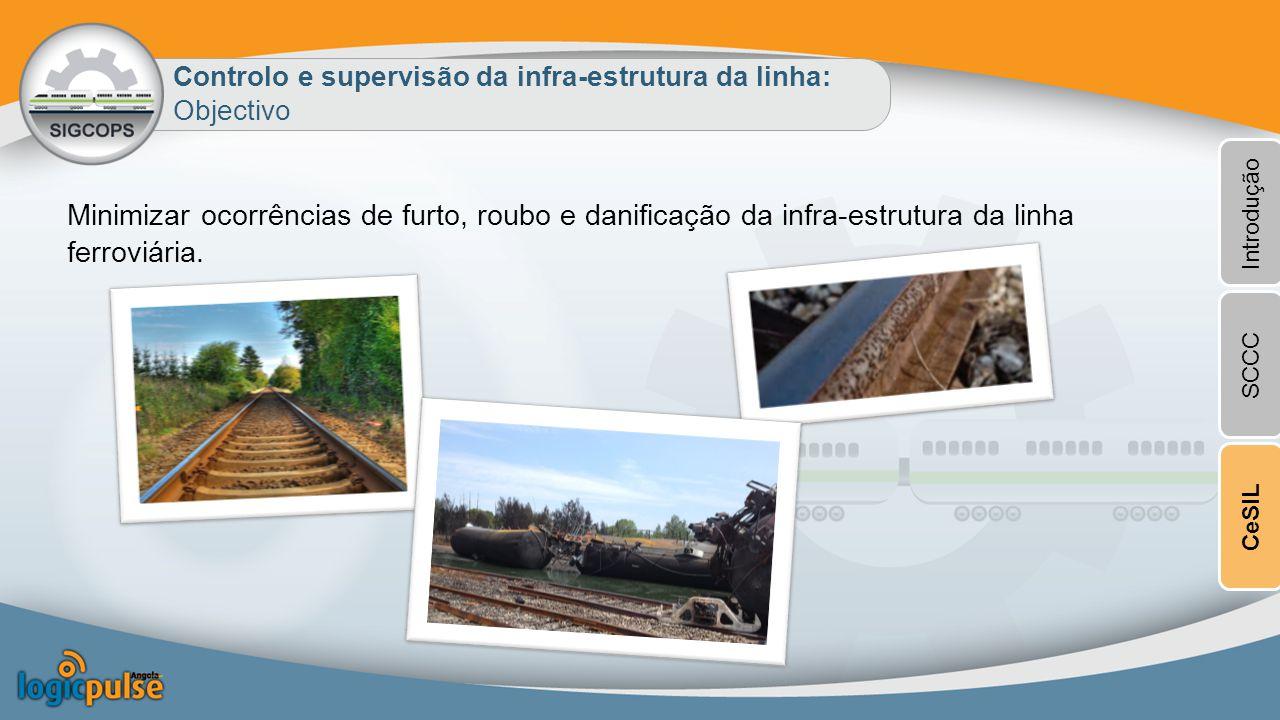 Controlo e supervisão da infra-estrutura da linha: