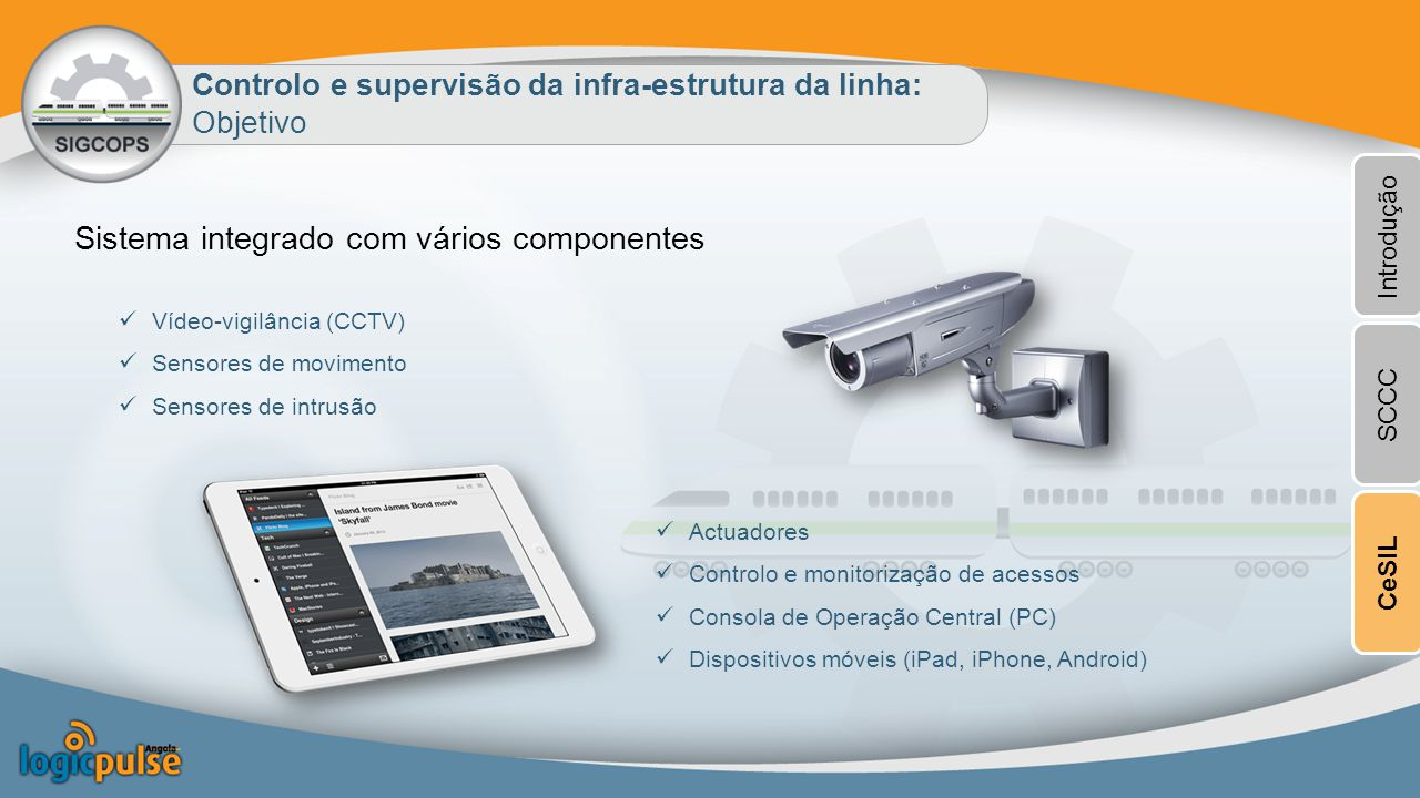 Sistema integrado com vários componentes
