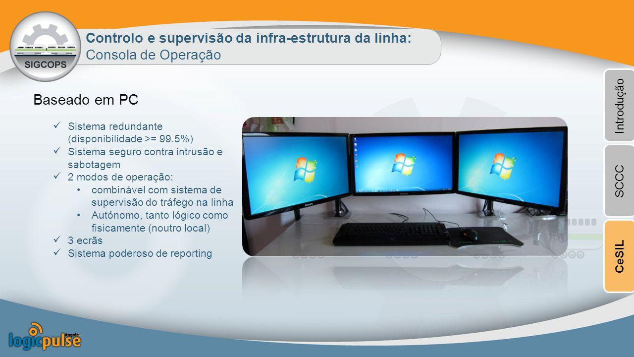Baseado em PC Controlo e supervisão da infra-estrutura da linha: