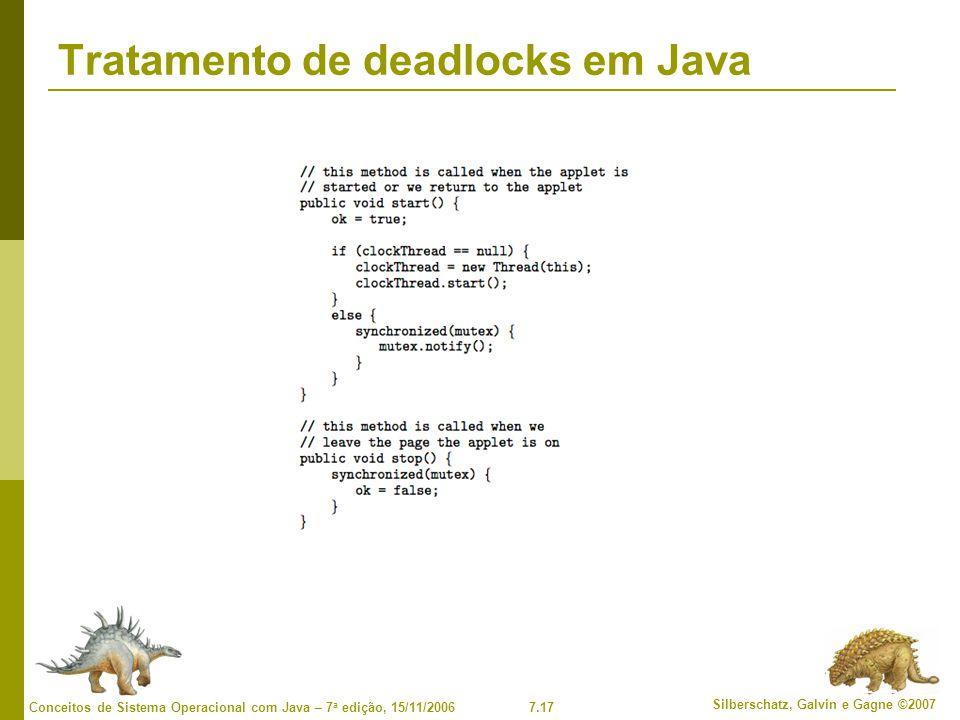 Tratamento de deadlocks em Java
