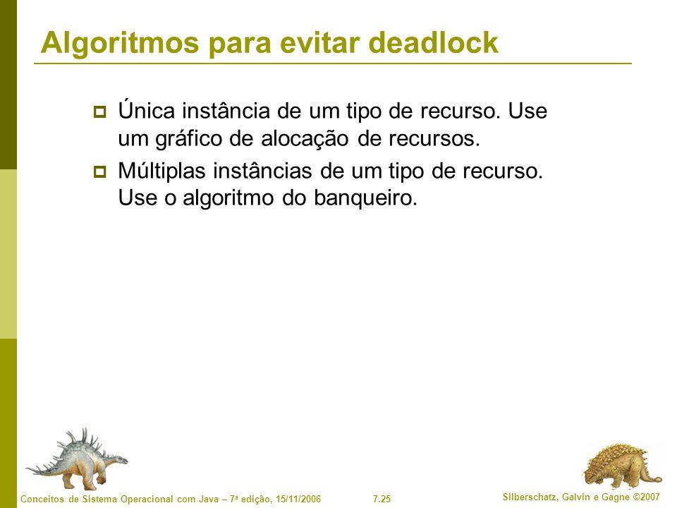 Algoritmos para evitar deadlock
