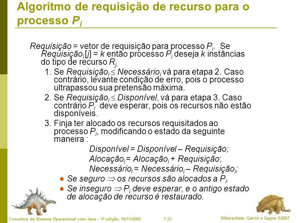 Algoritmo de requisição de recurso para o processo Pi