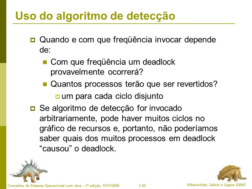 Uso do algoritmo de detecção