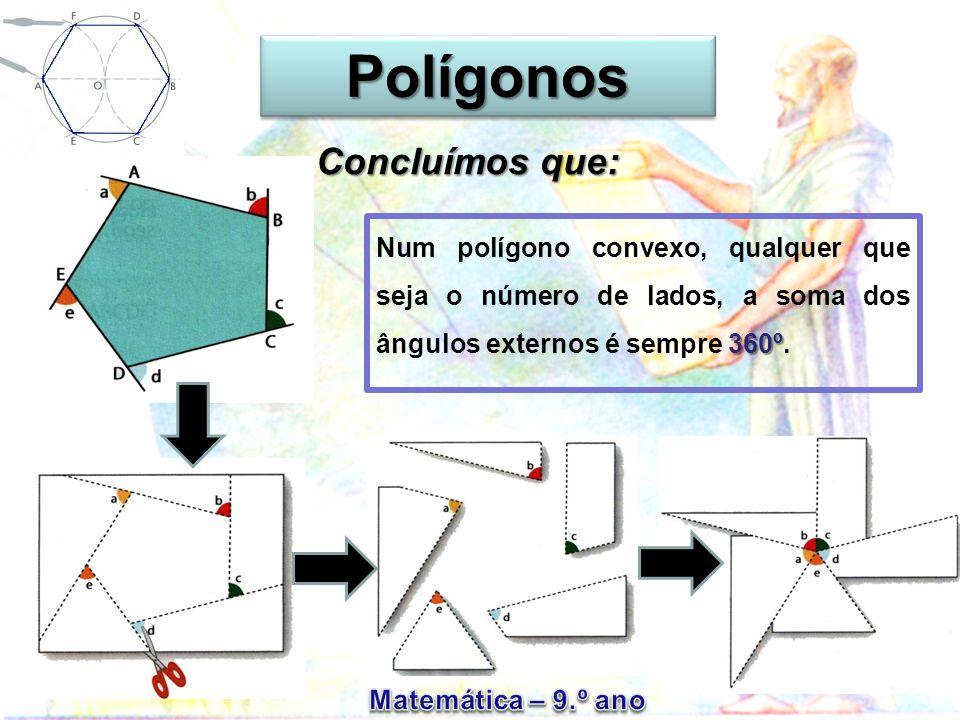 Polígonos Concluímos que: