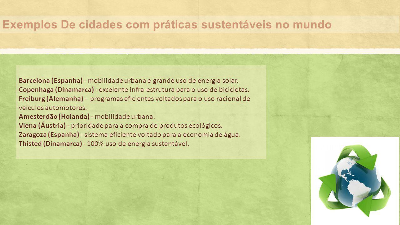 Exemplos De cidades com práticas sustentáveis no mundo
