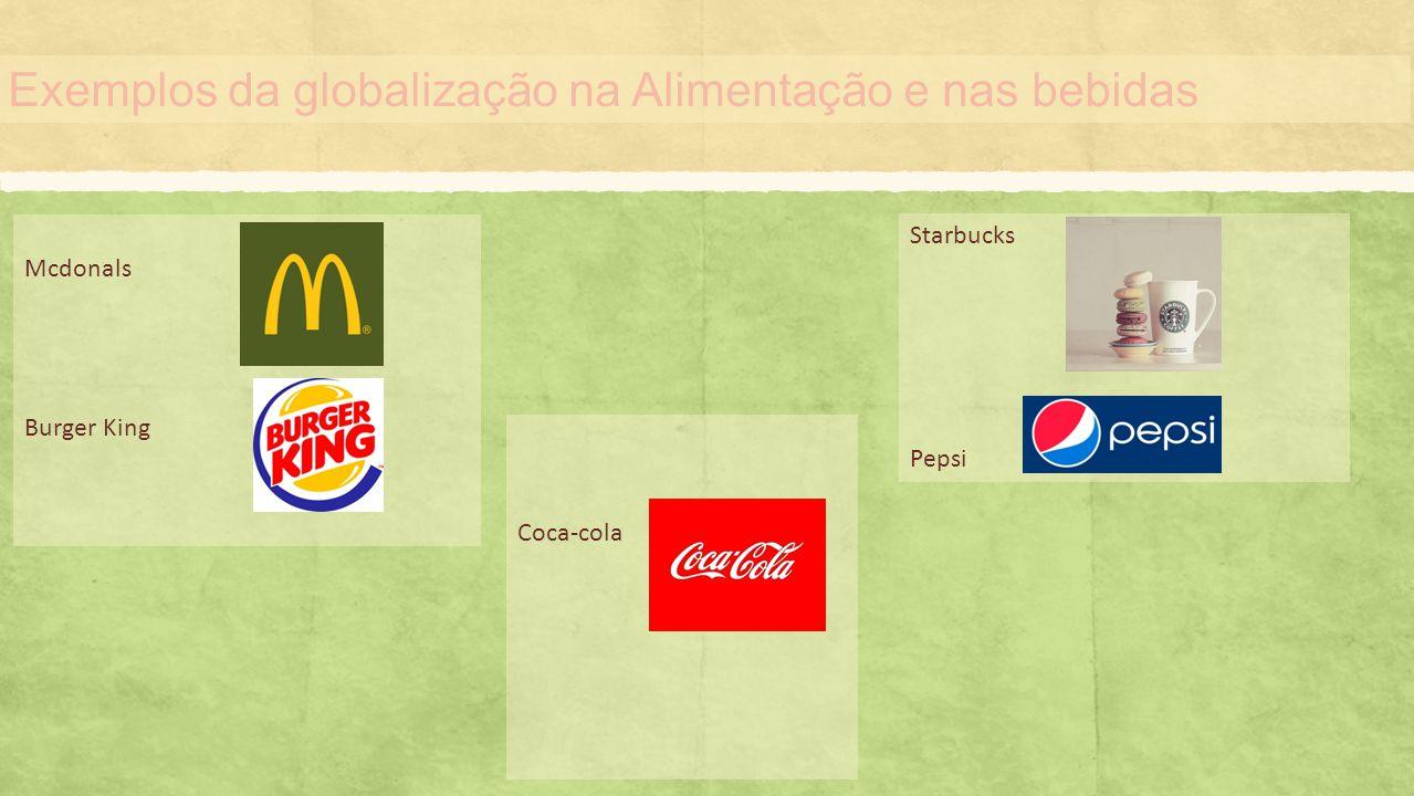 Exemplos da globalização na Alimentação e nas bebidas