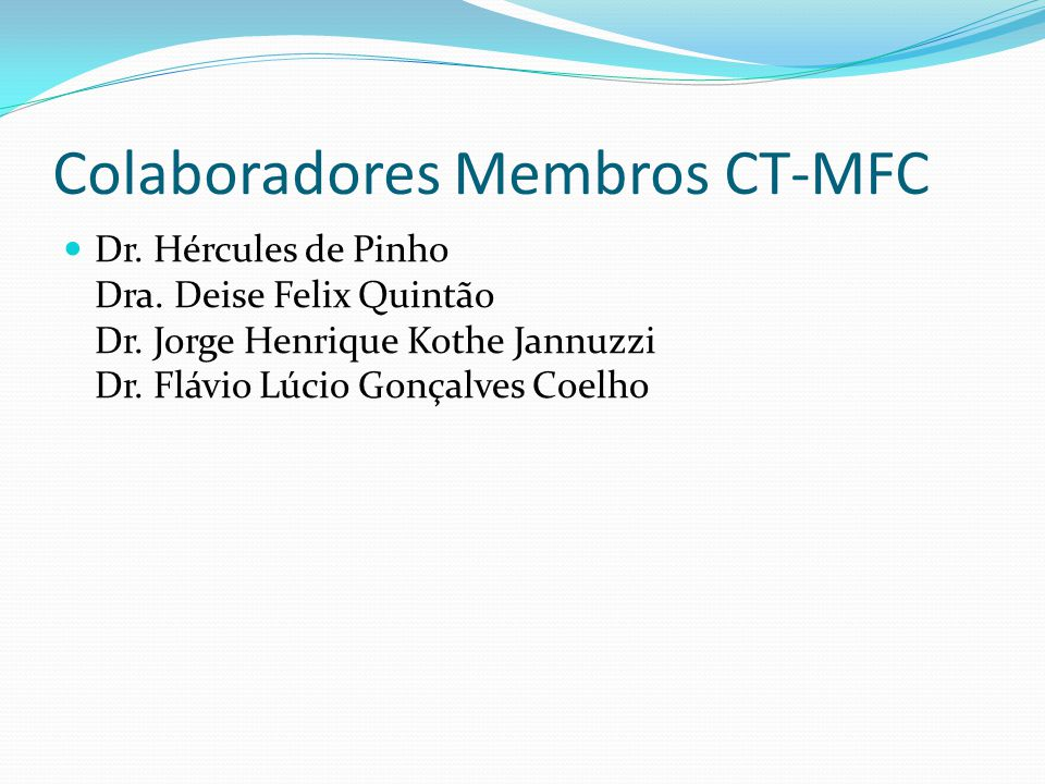 Colaboradores Membros CT-MFC
