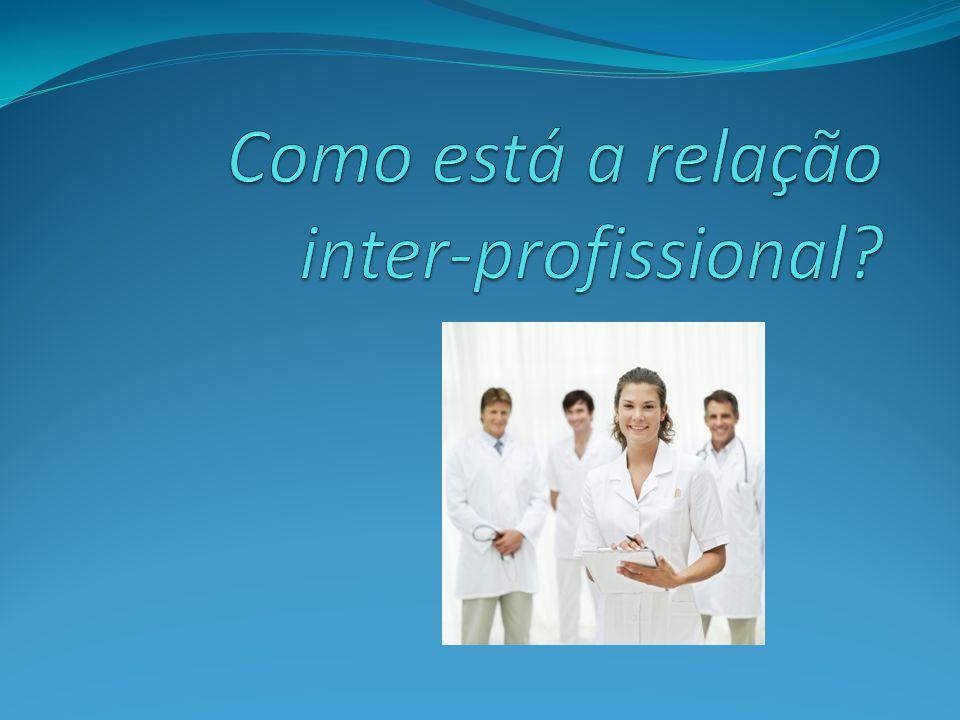 Como está a relação inter-profissional