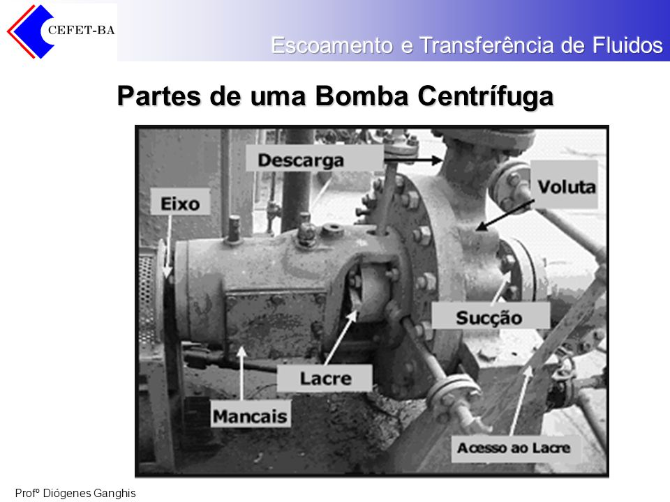 Partes de uma Bomba Centrífuga
