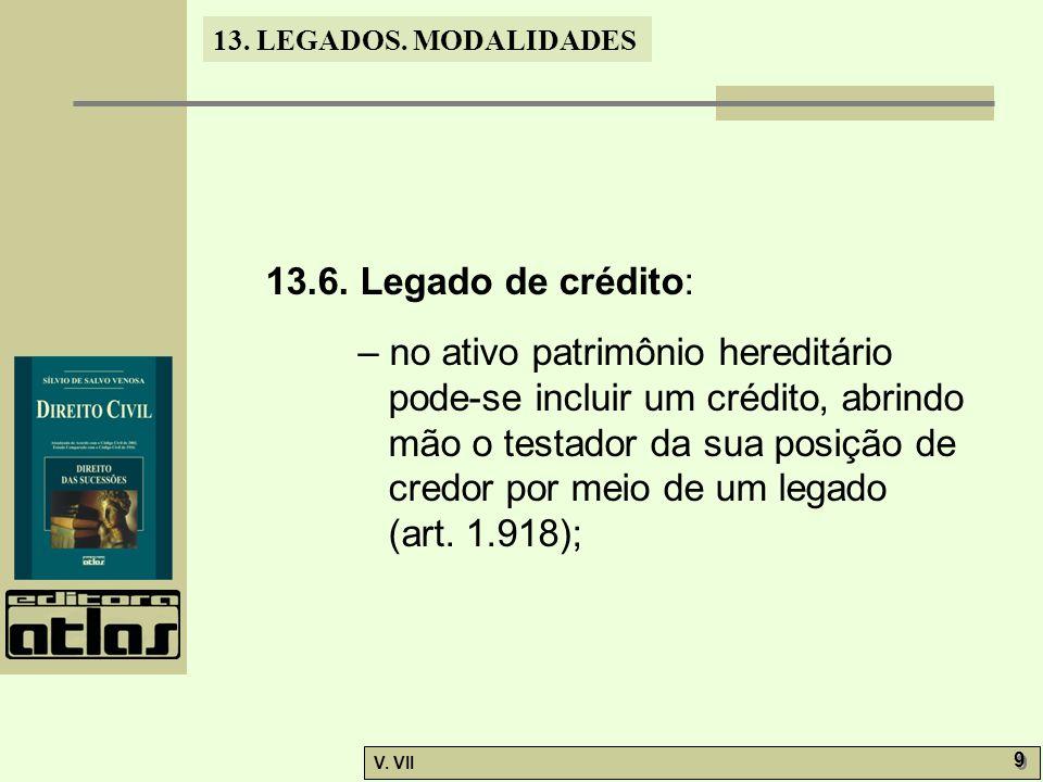 13.6. Legado de crédito: