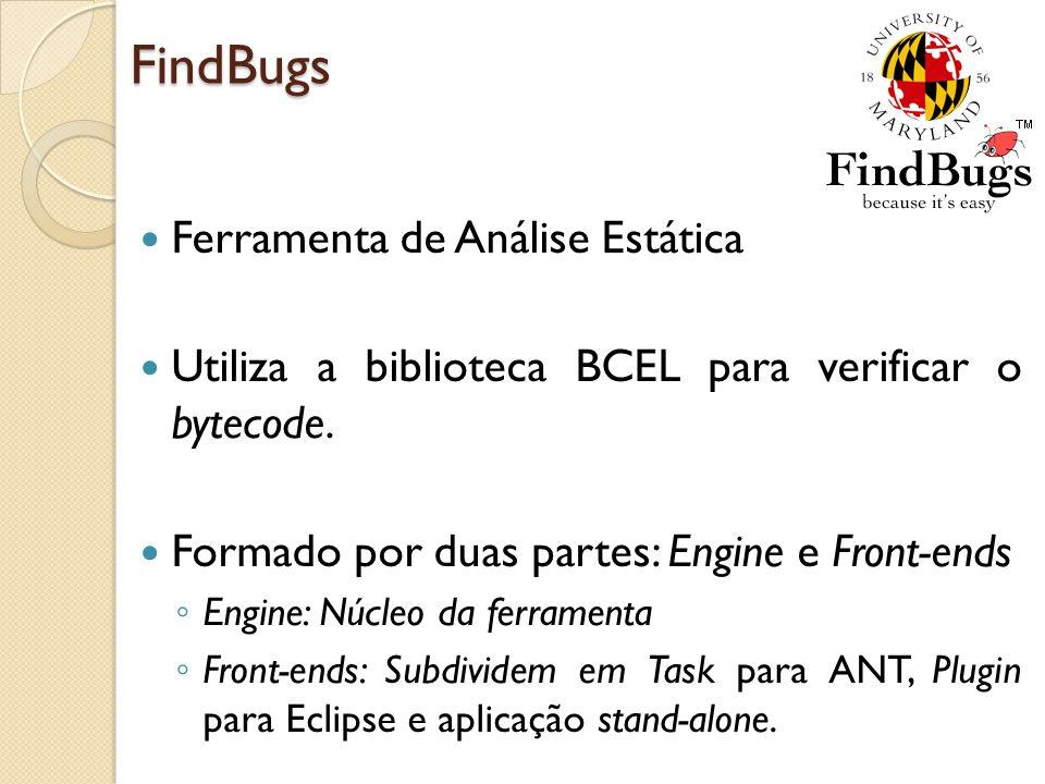 FindBugs Ferramenta de Análise Estática