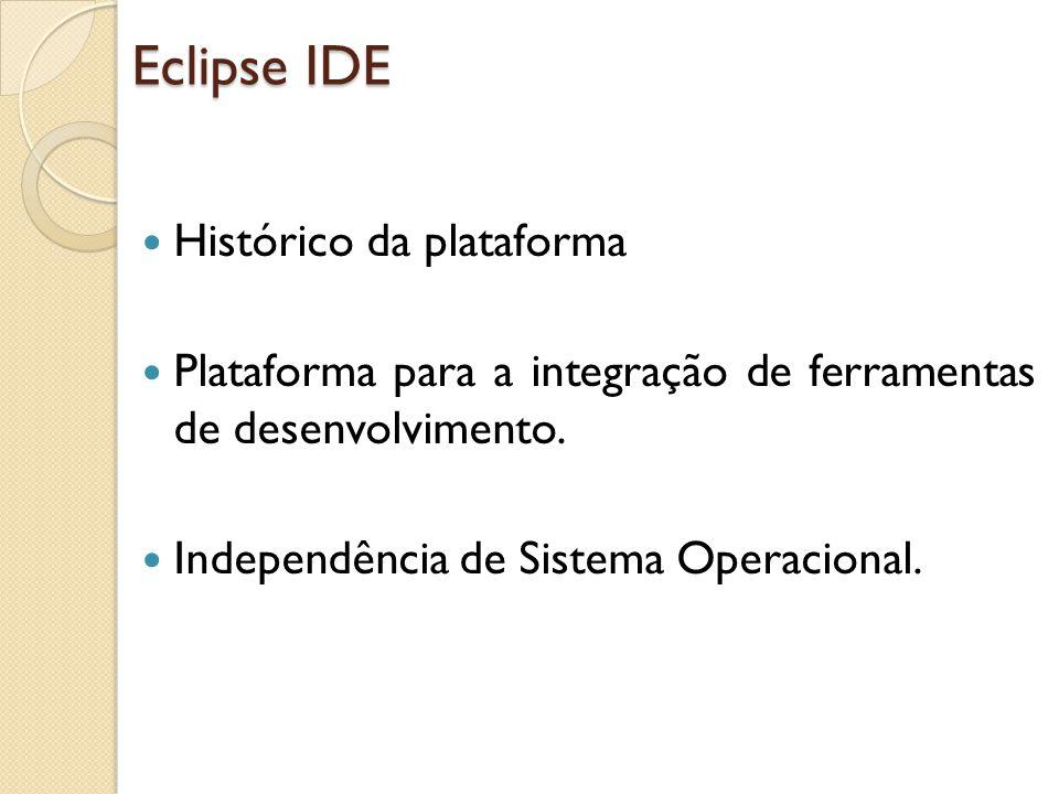 Eclipse IDE Histórico da plataforma