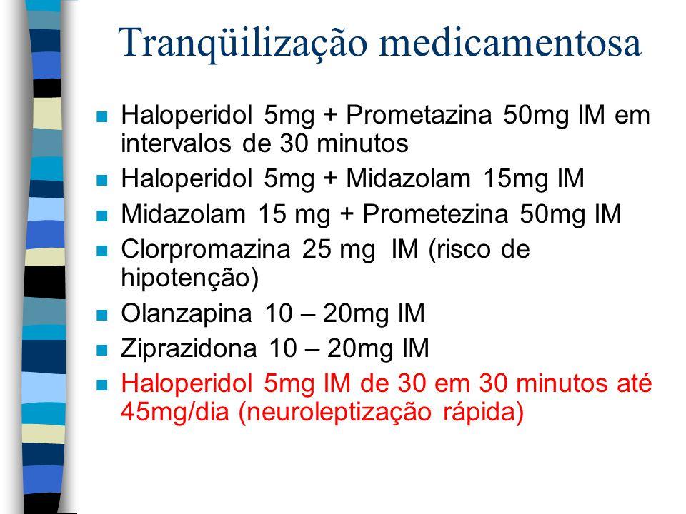 Tranqüilização medicamentosa