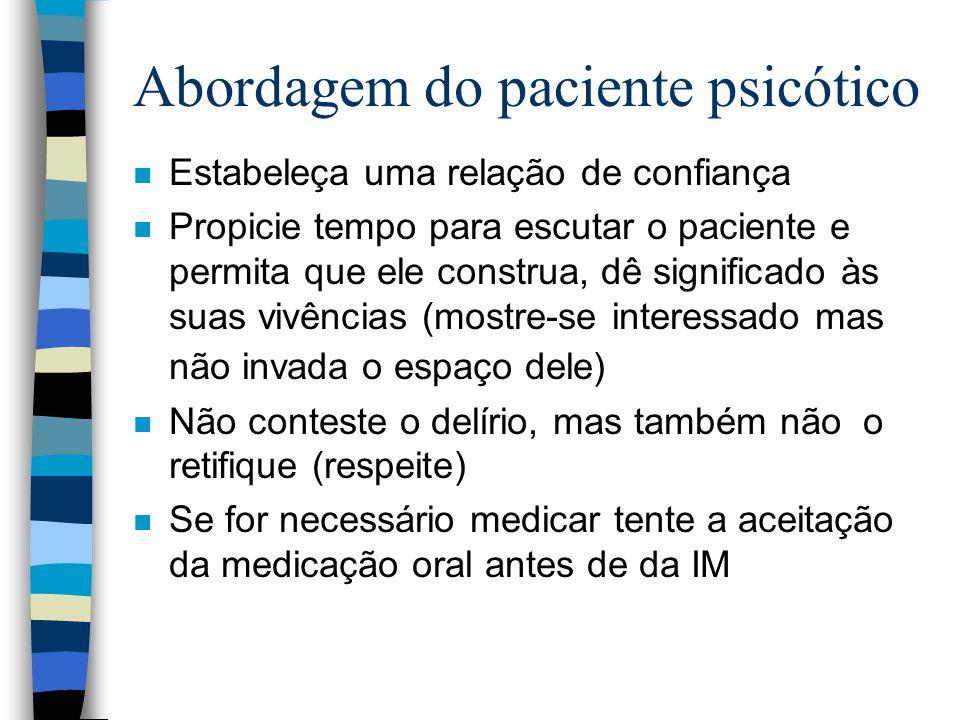 Abordagem do paciente psicótico