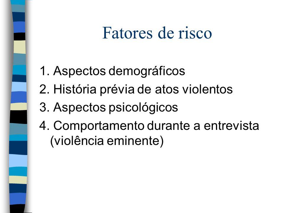Fatores de risco 1. Aspectos demográficos