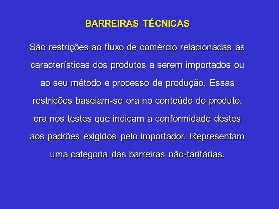 BARREIRAS TÉCNICAS