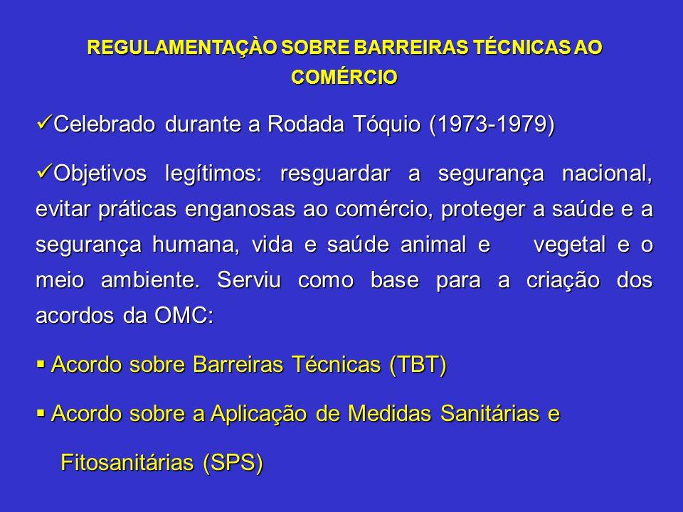 REGULAMENTAÇÀO SOBRE BARREIRAS TÉCNICAS AO COMÉRCIO
