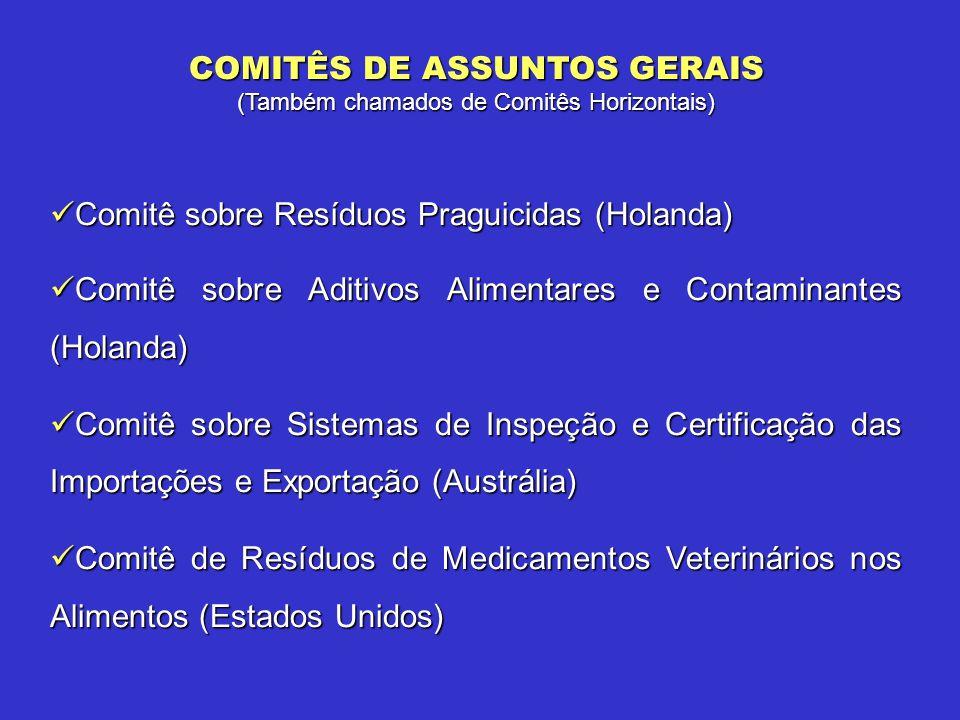 COMITÊS DE ASSUNTOS GERAIS