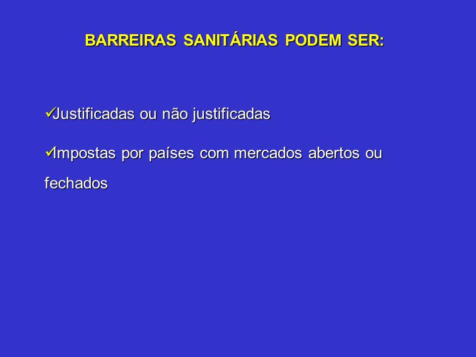 BARREIRAS SANITÁRIAS PODEM SER: