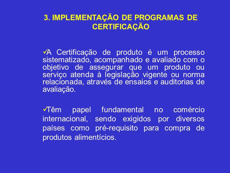 3. IMPLEMENTAÇÃO DE PROGRAMAS DE CERTIFICAÇÃO