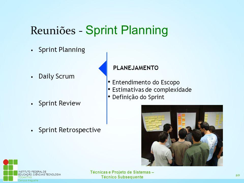 Reuniões - Sprint Planning