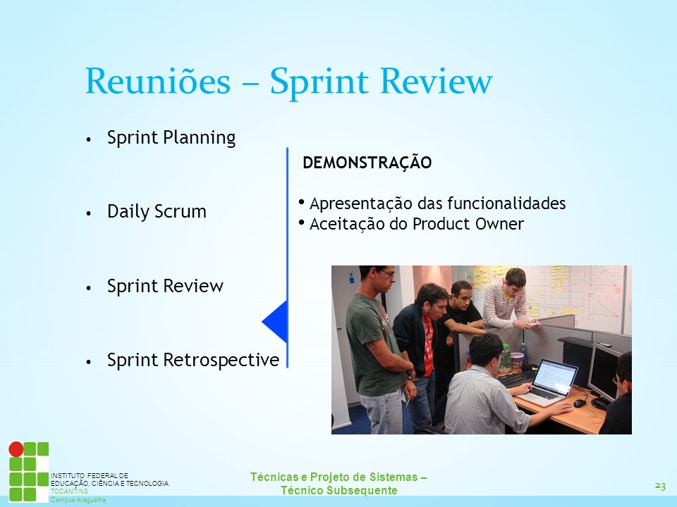 Reuniões – Sprint Review