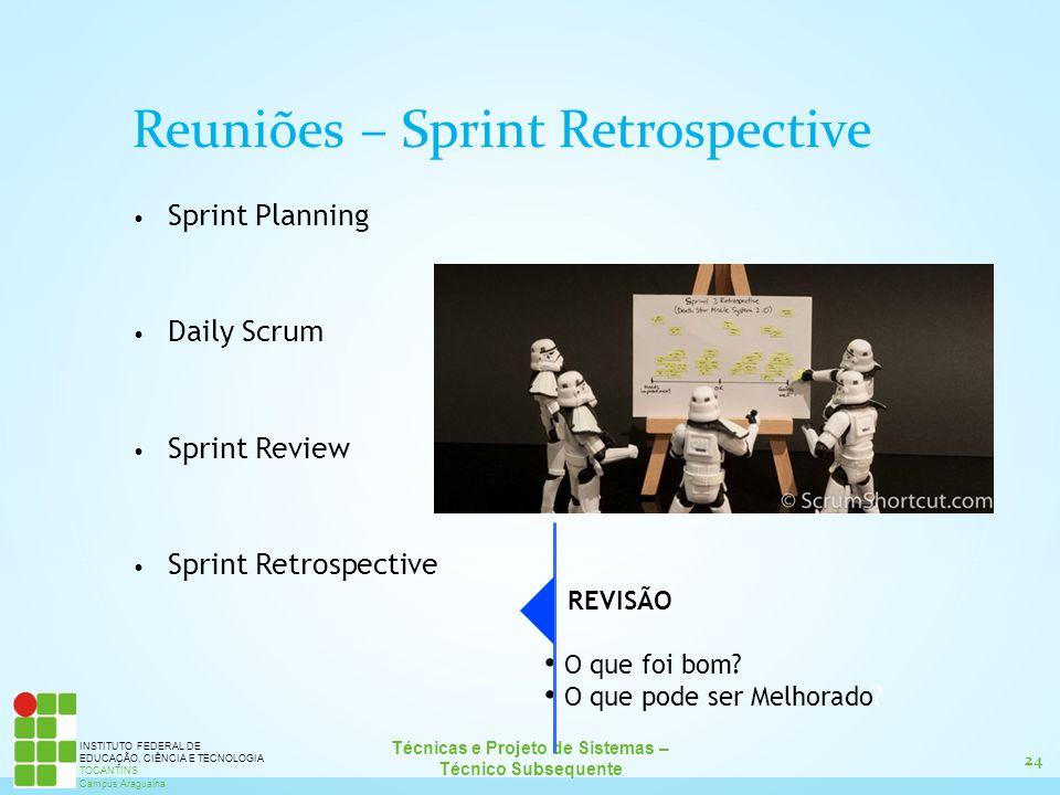 Reuniões – Sprint Retrospective