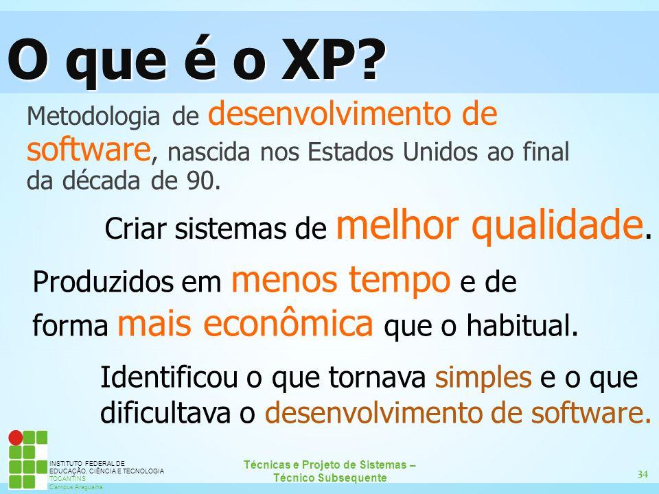 O que é o XP Criar sistemas de melhor qualidade.