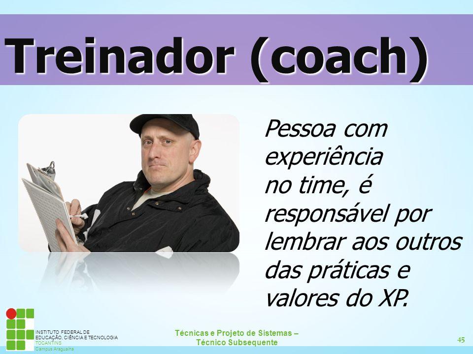 Treinador (coach) Pessoa com experiência